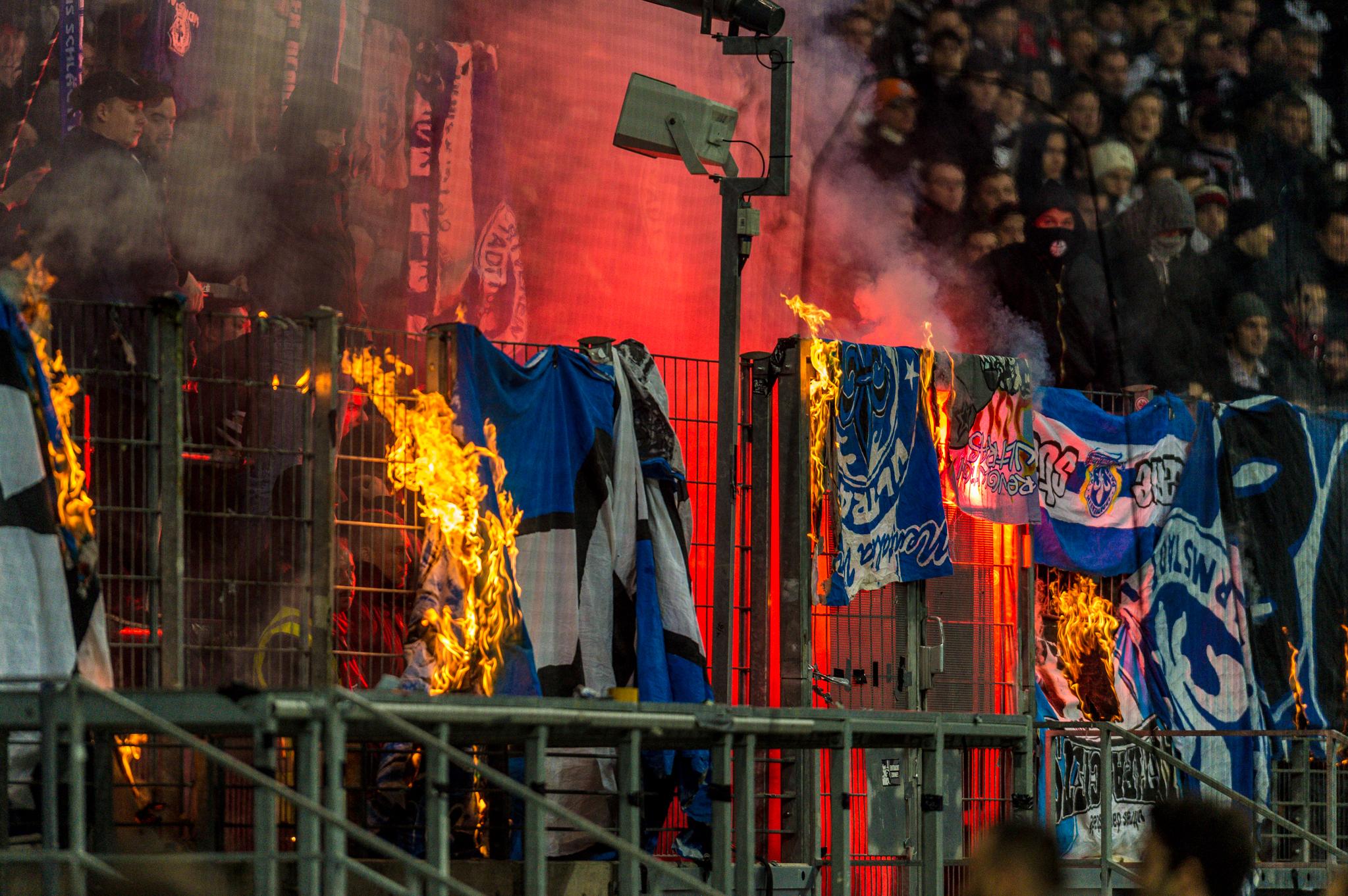 Commerzbank burning