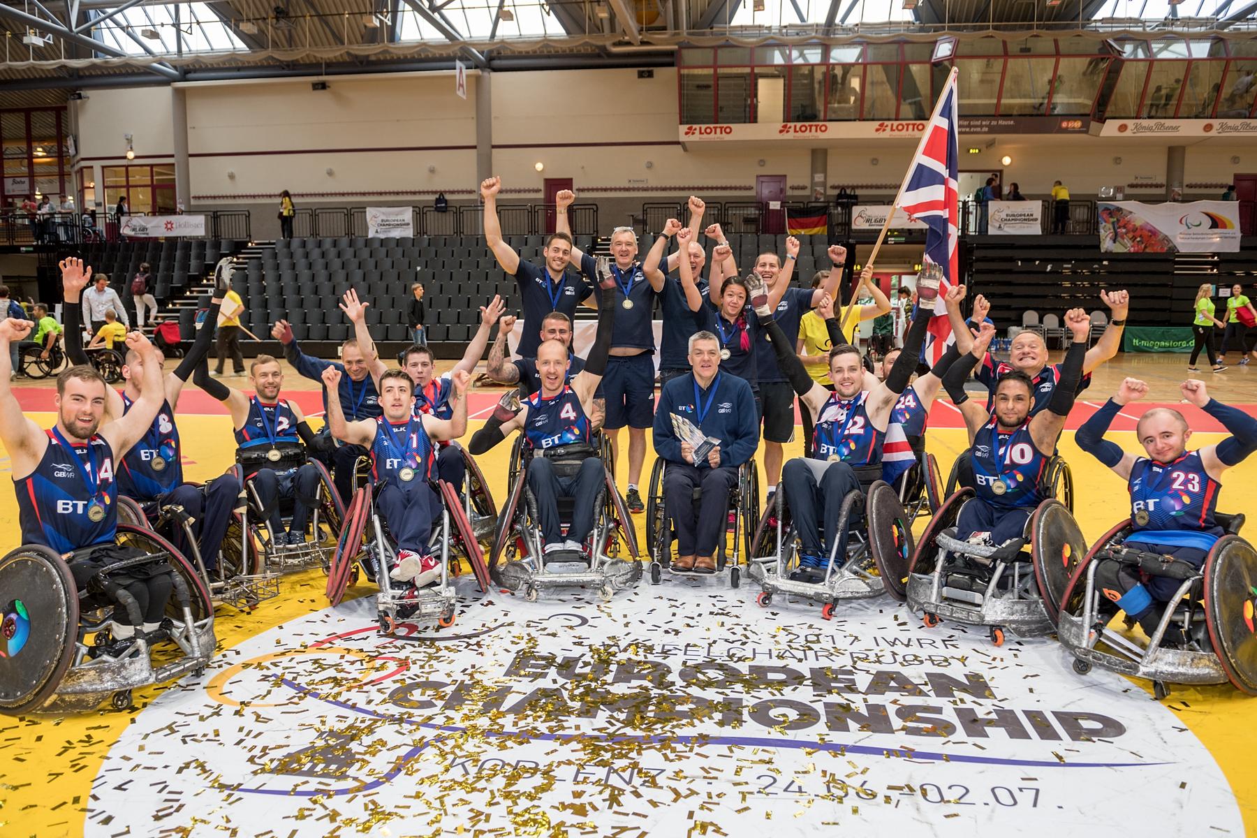 England gewinnt die Europameisterschaft im Rollstuhl Rugby